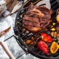 Wintergrillen Spezial Grillen ist gesund mit Gemüse auf dem Grill